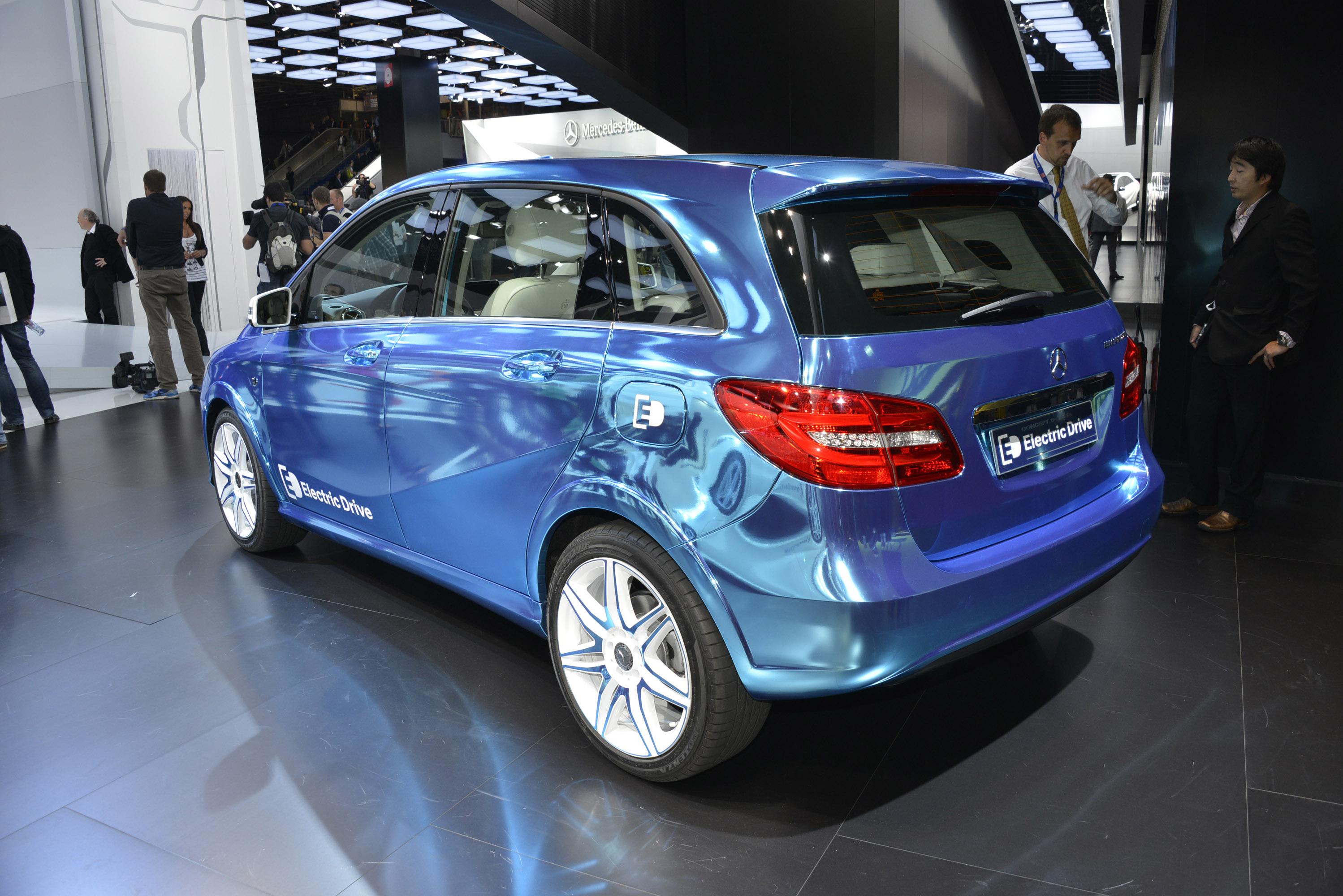 2014 mercedes benz concept b class electric drive hd for Mercedes benz b class electric car