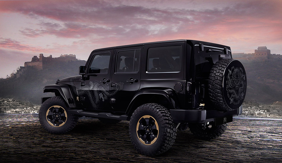 2012 Jeep Wrangler Dragon Design Concept Rear Angle