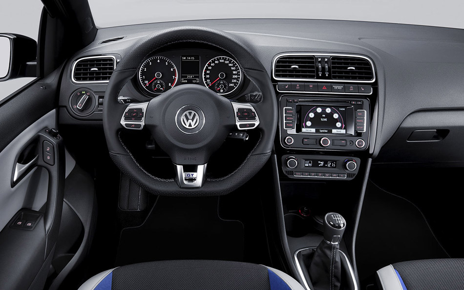 2012 Volkswagen Polo GT Blue Interior