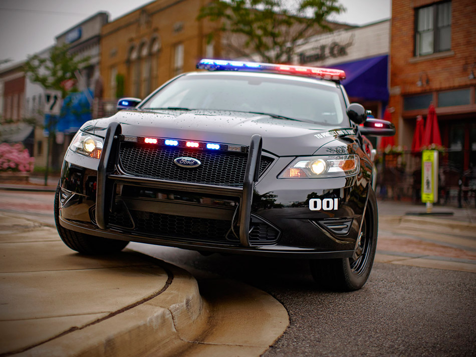 2013 Ford Police Interceptors Front Angle