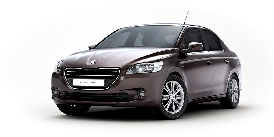 2013 Peugeot 301 Front Angle