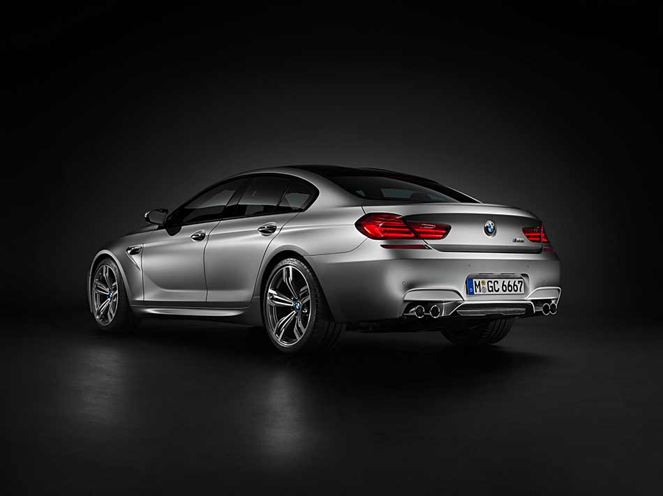 2014 BMW M6 Gran Coupe Rear Angle