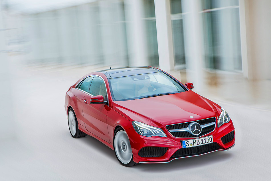 2014 Mercedes-Benz E-Class Coupe and Cabriolet Front Angle