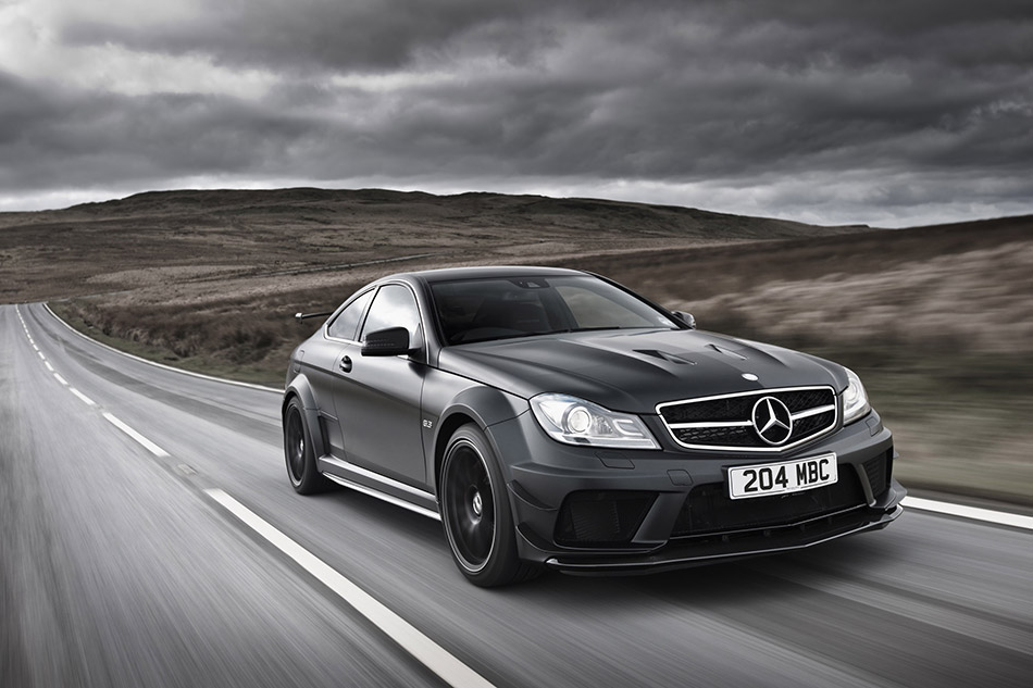 2012 Mercedes-Benz C63 AMG Coupe Black Series Front Angle