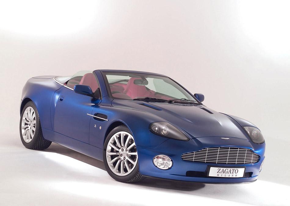 2004 Zagato Aston Martin Vanquish Roadster Front Angle