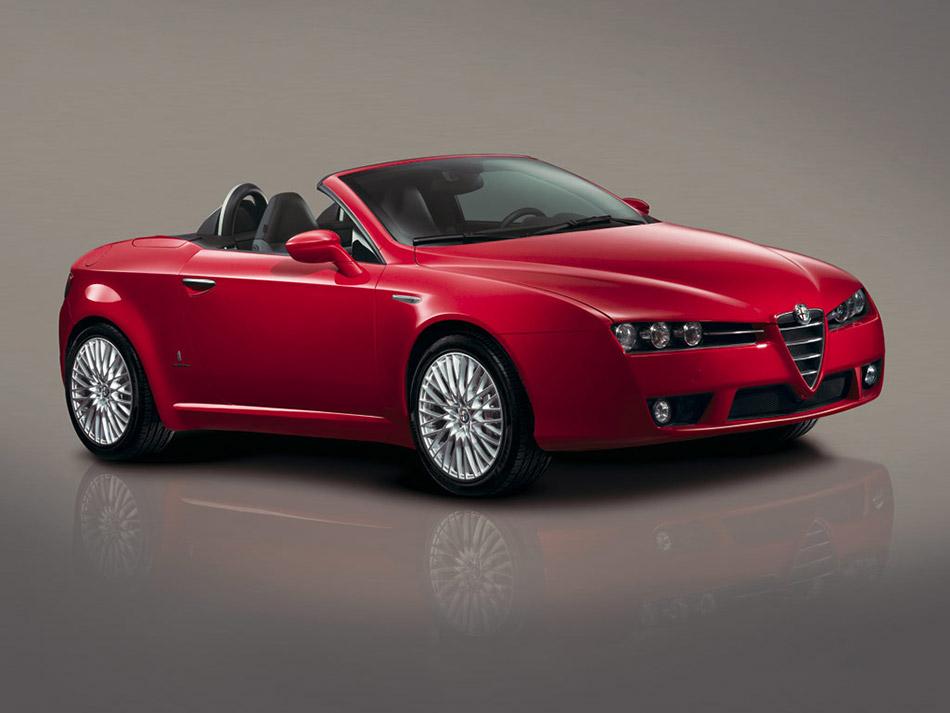 2006 Alfa Romeo Spider Convertible Front Angle