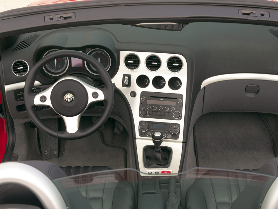 2006 Alfa Romeo Spider Convertible Interior