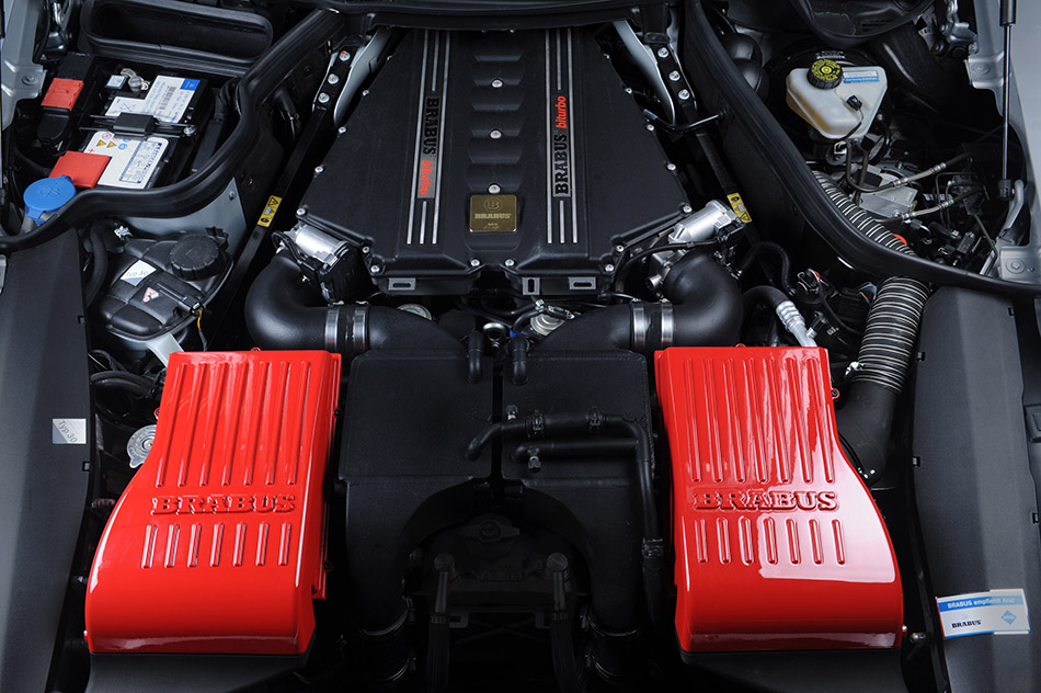 2011 Brabus Mercedes-Benz SLS AMG 700 Biturbo Engine