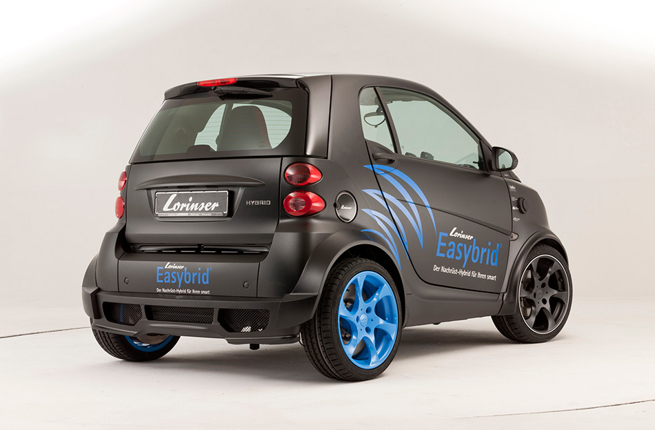 2011 Lorinser Smart ForTwo Easybrid Rear Angle