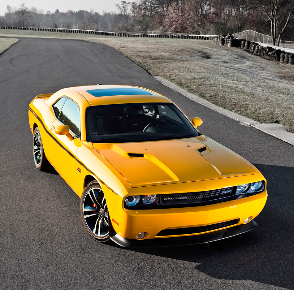 2012 Dodge Challenger SRT8 392 Yellow Jacket Front Angle
