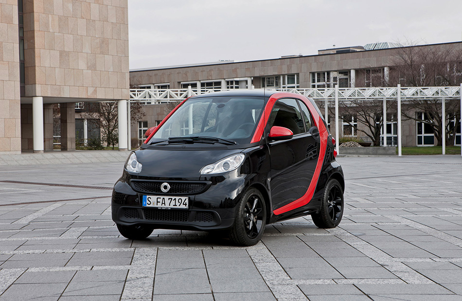 2012 Smart ForTwo Sharpred Front Angle