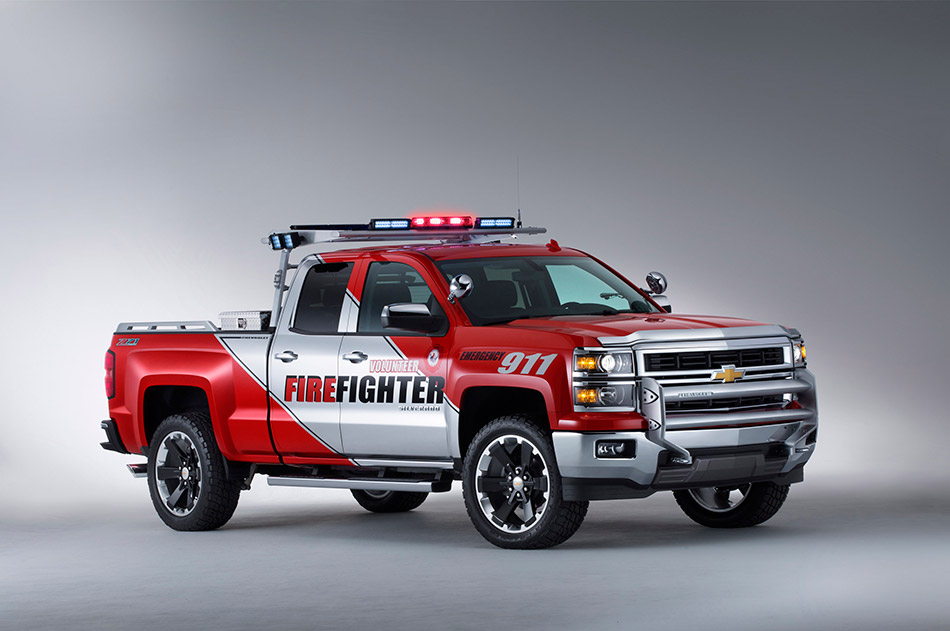 2013 Chevrolet Silverado Volunteer Firefighters Double Cab Concept Front Angle
