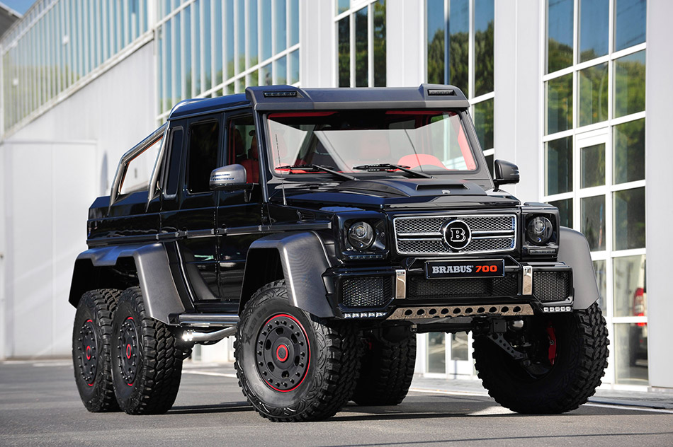 2014 Brabus B63S-700 6x6 Mercedes-Benz G-Class Front Angle