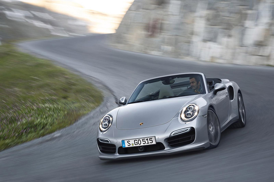 2014 Porsche 911 Turbo Cabriolet Front Angle