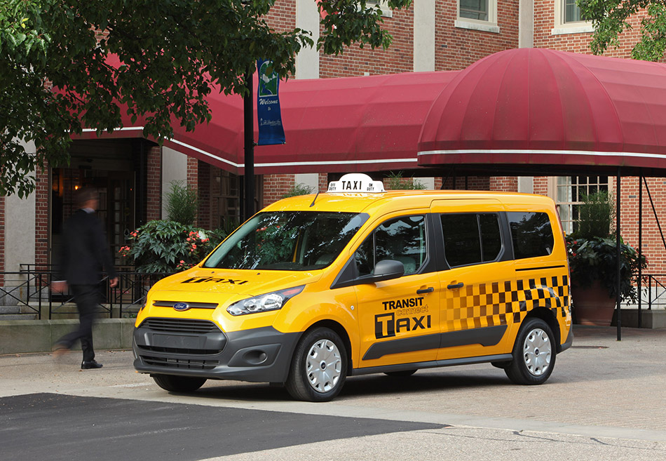 Ford Transit Connect Taxi Front Angle