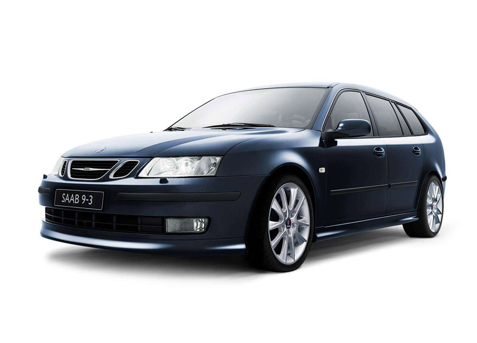 2006 Saab 93 SportCombi Front Angle