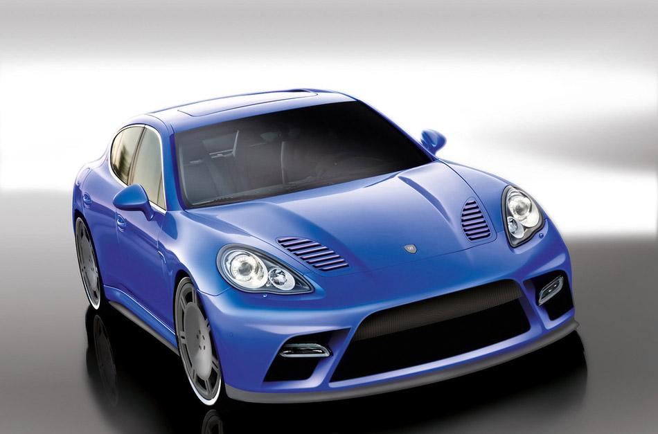 2010 9ff Porsche Panamera Turbo Front Angle