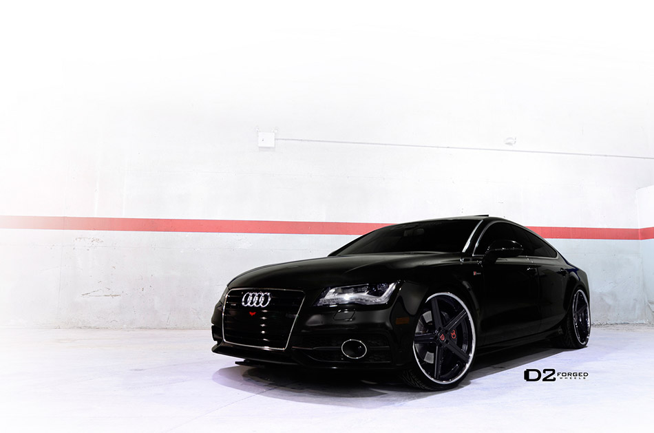 2013 D2Forged Audi A7 CV2 Front Angle