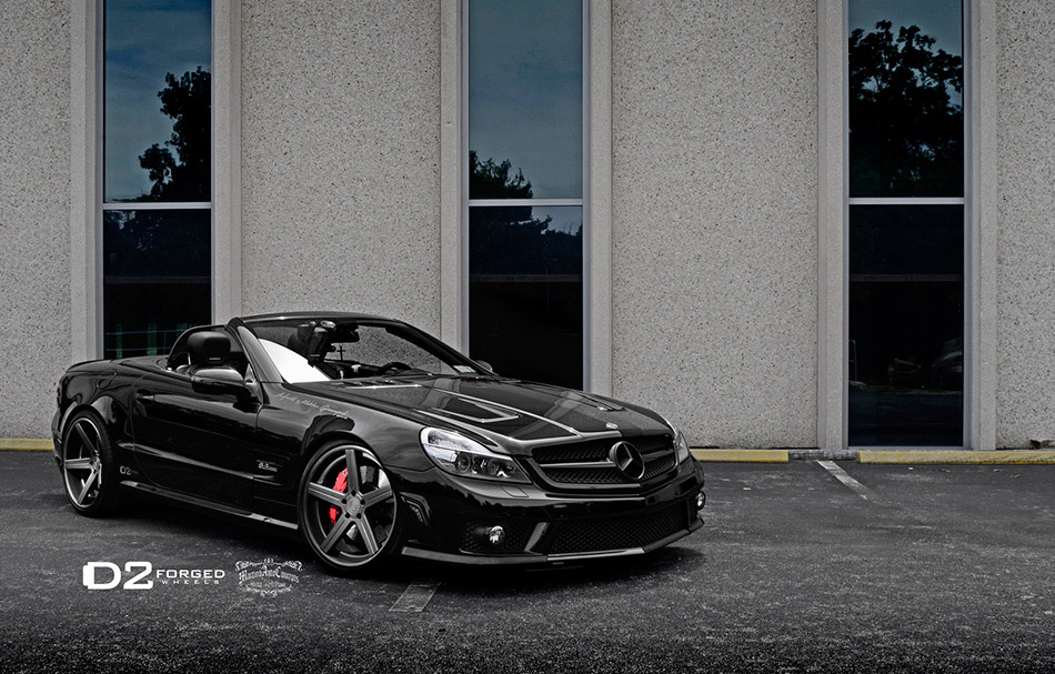 2013 D2Forged Mercedes Benz SL63 AMG CV2 Front Angle