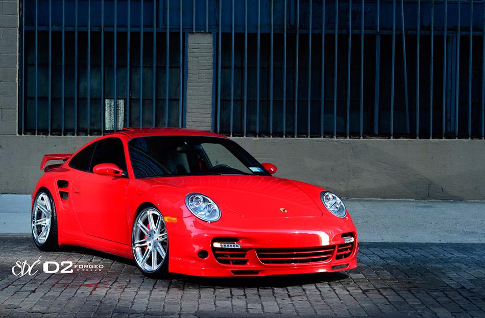 2013 D2Forged Porsche 997TT CV13 Front Angle