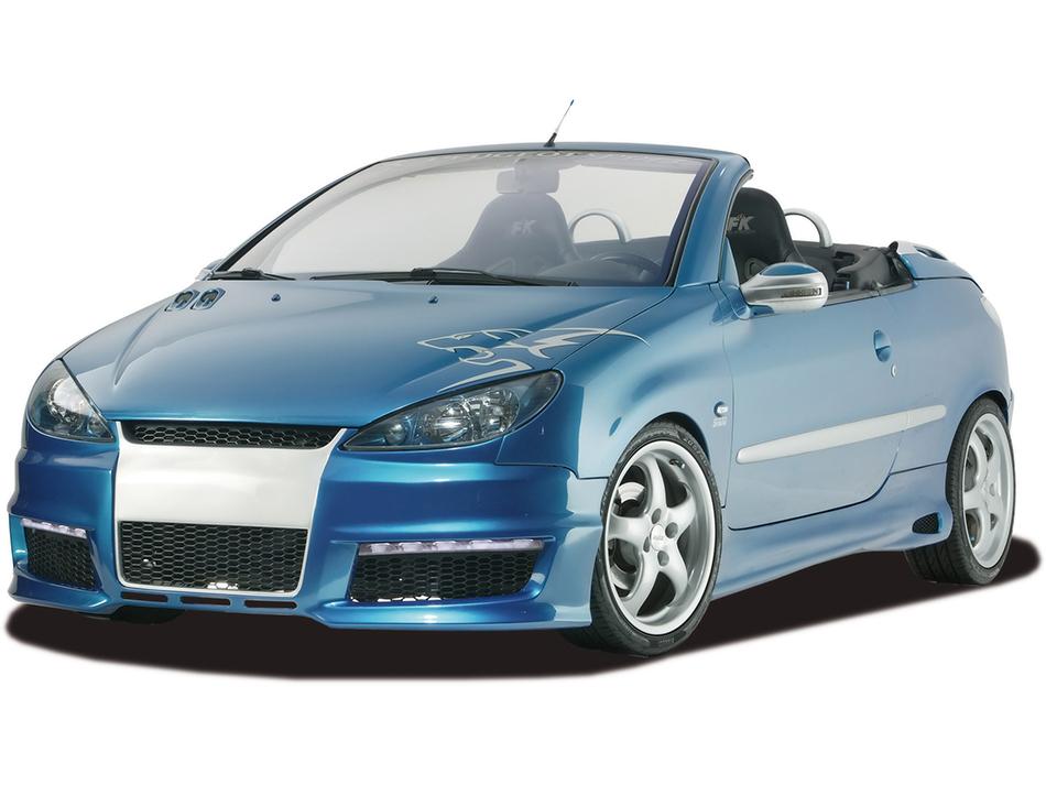 2008 RDX Racedesign Peugeot 206 Aerodynamic Kit Front Angle