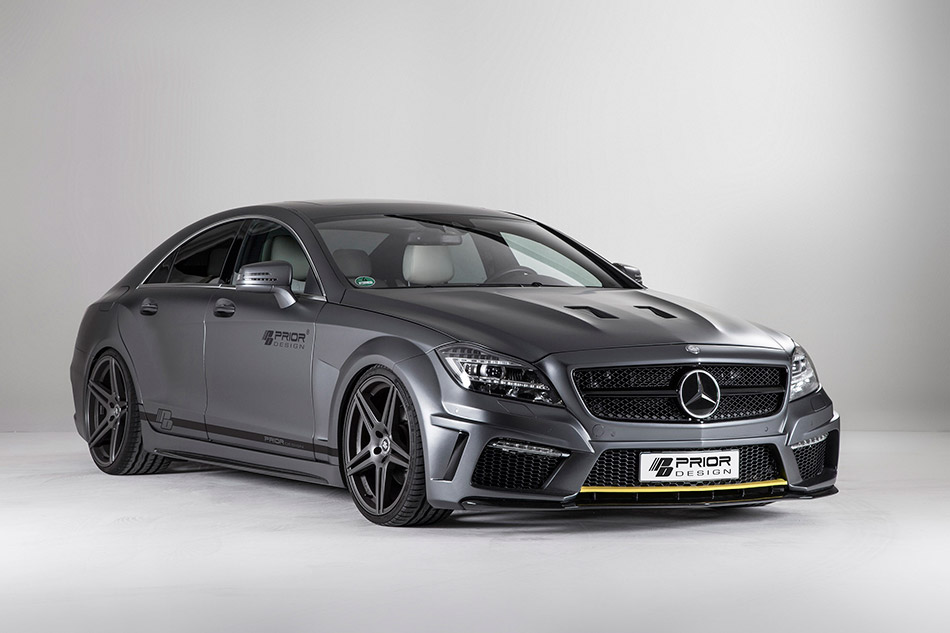 2013 Prior Design Mercedes-Benz CLS PD550 Black Edition Front Angle