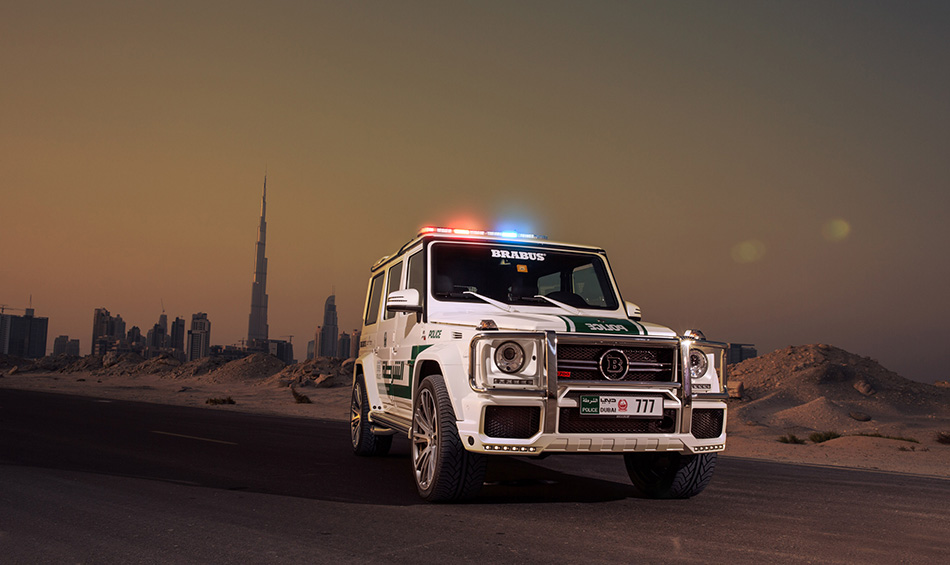 2013 Brabus Mercedes-Benz B63S-700 Widestar Dubai Police Front Angle