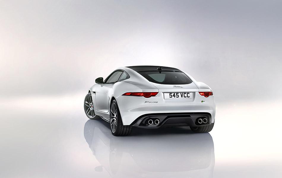 2015 Jaguar F-Type R Coupe Rear Angle