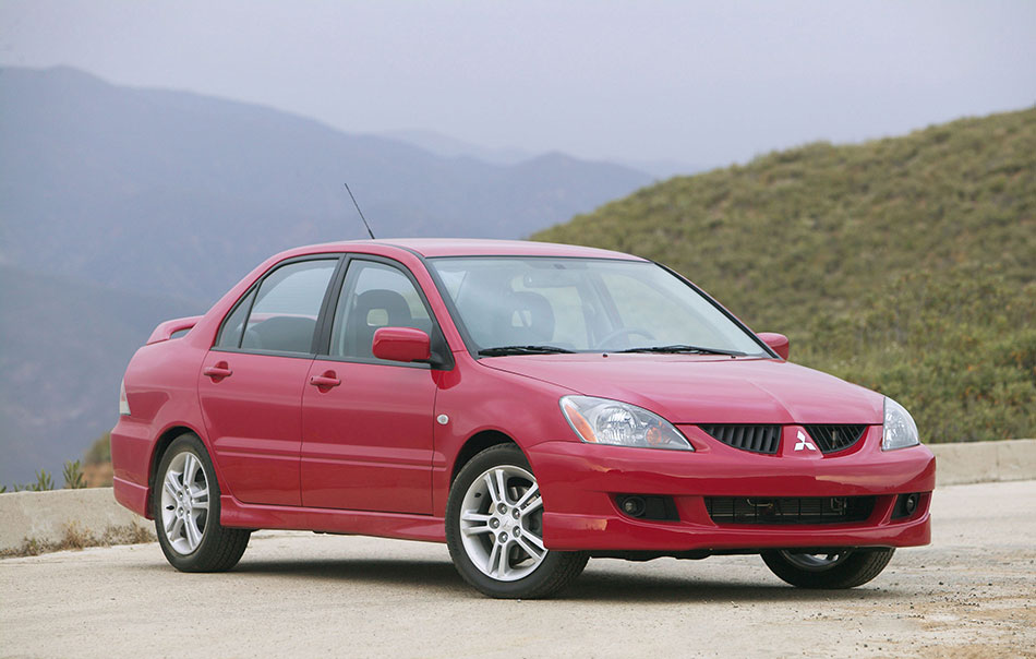 2004 Mitsubishi Lancer Front Angle