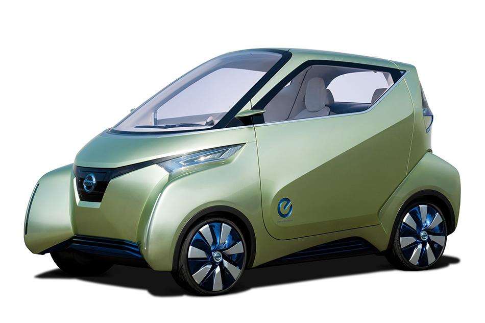 2012 Nissan PIVO 3 EV Concept Front Angle