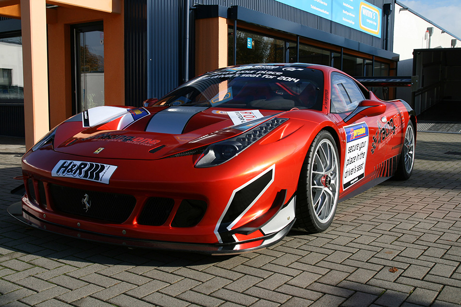 2013 Racing One Ferrari 458 Competition Front Angle