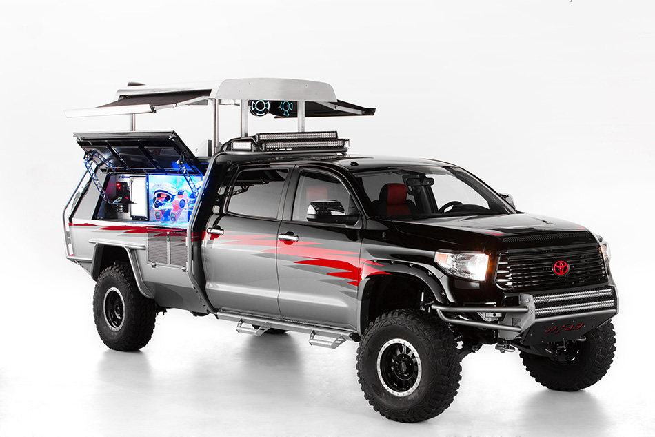 2013 Toyota Dream Build Challenge Let's Go Moto Tundra Front Angle