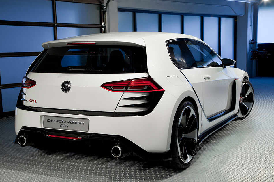 2013 Volkswagen Golf Design Vision GTI Rear Angle
