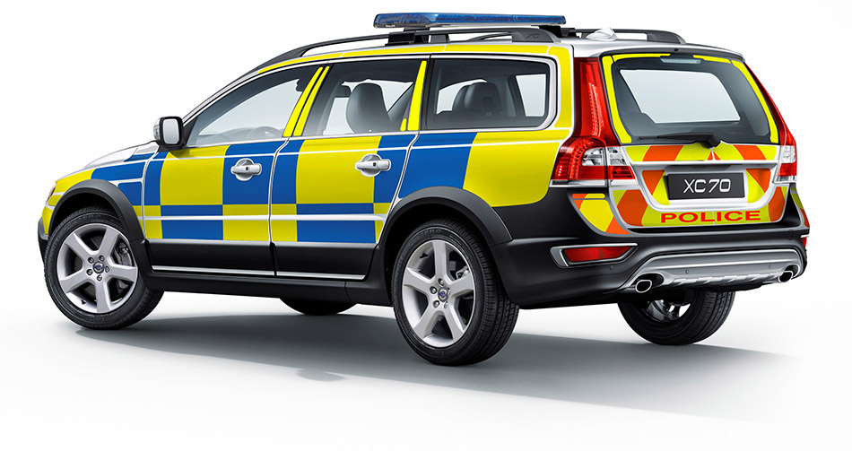 2014 Volvo XC70 D5 AWD Swedish Police Rear Angle