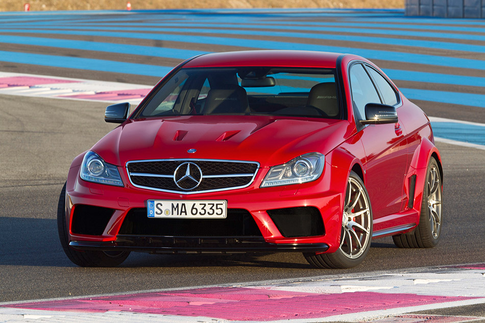 2012 Mercedes-Benz C63 AMG Coupe Front Angle