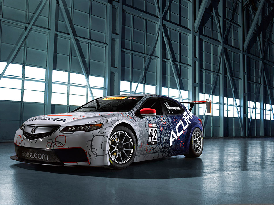 2015 Acura TLX GT Race Car Front Angle
