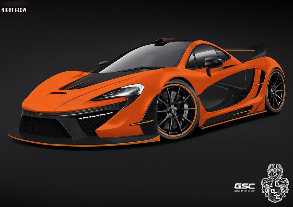 2013 German Special Customs McLaren P1 Night Glow Front Angle