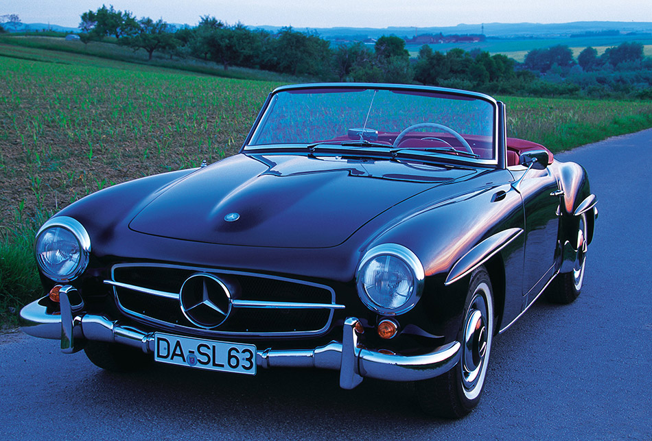1955 Mercedes-Benz 190 SL Roadster Front Angle