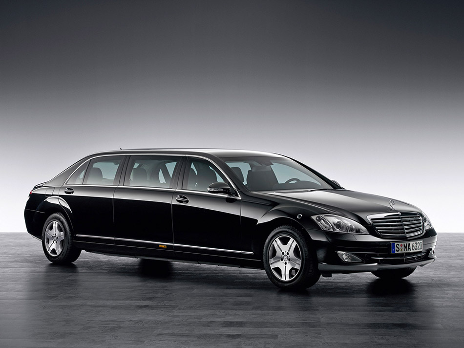 2008 Mercedes-Benz S 600 Guard Pullman Front Angle