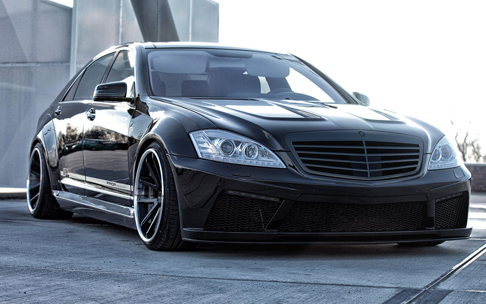 2014 Prior Design Mercedes-Benz S-Class Black Edition V2 Front Angle