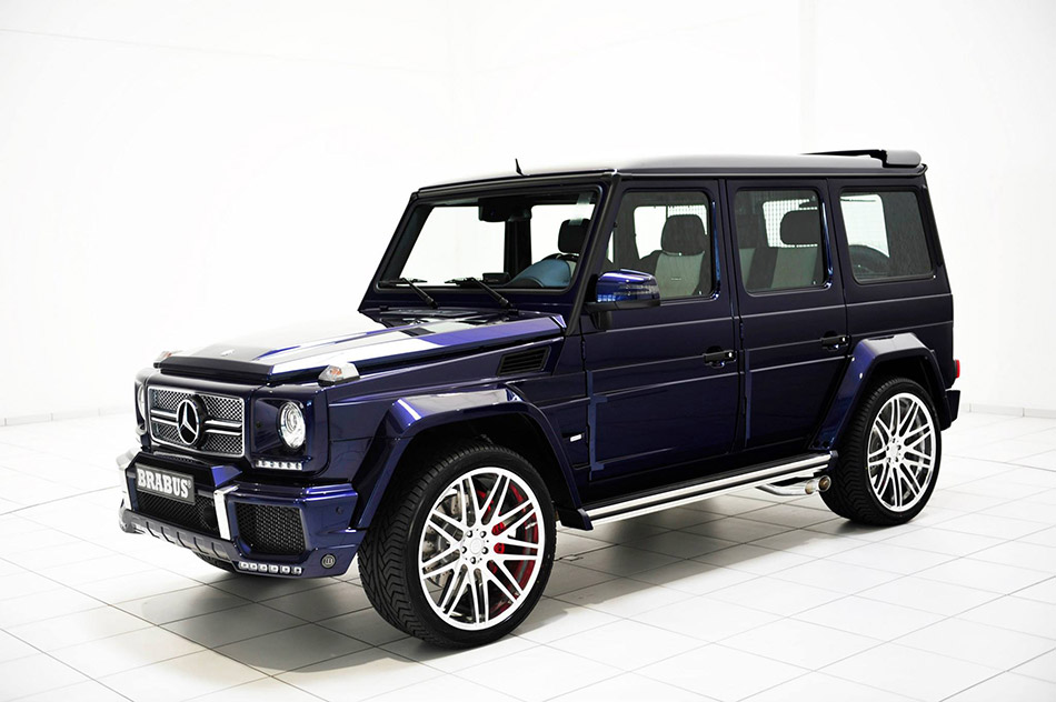 2014 Brabus Mercedes-Benz G63 Mystic Blue Front Angle