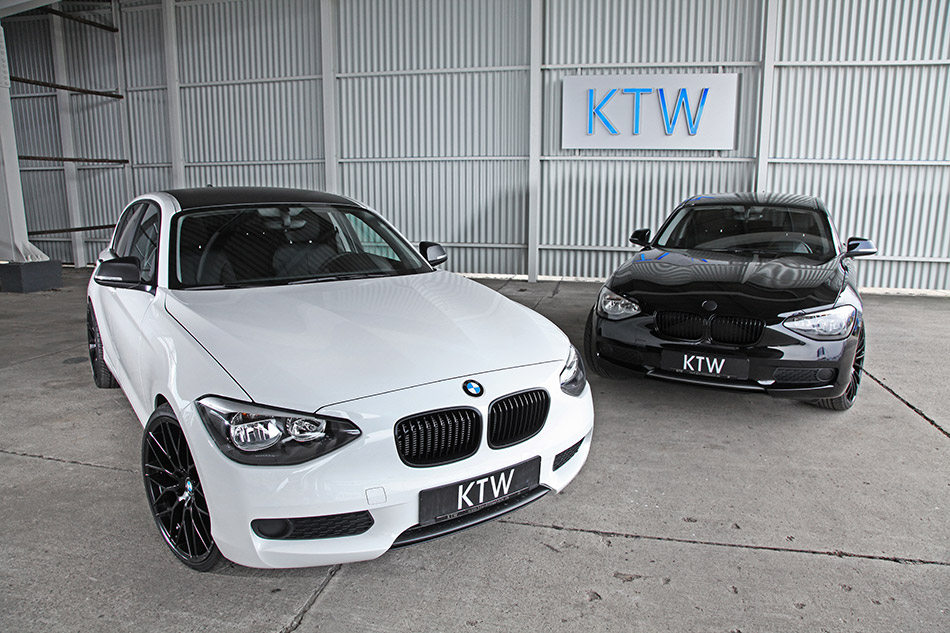 2014 KTW Tuning BMW 1-series Black and White Front Angle