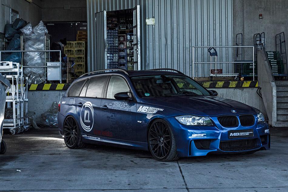 2014 MB BMW 335i Touring Front Angle