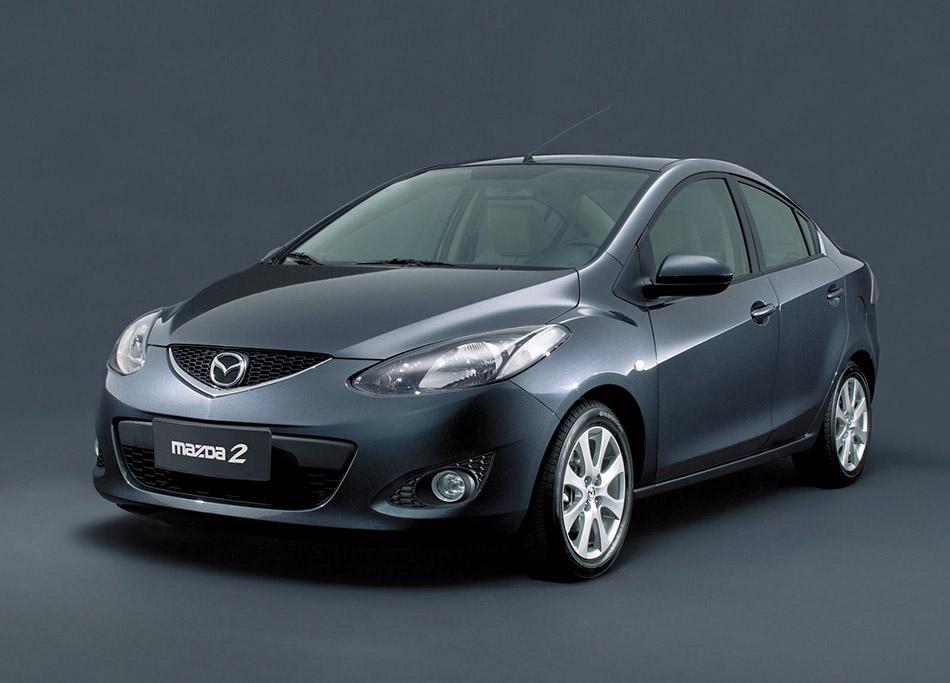 2008 Mazda 2 Sedan Front Angle