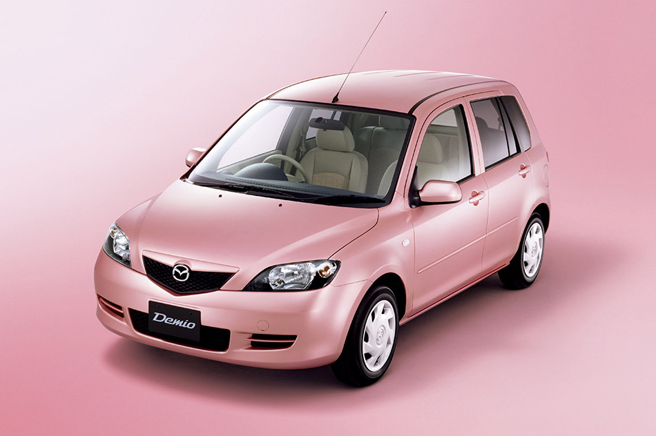 2003 Mazda Demio Stardust Pink Limited Edition Front Angle