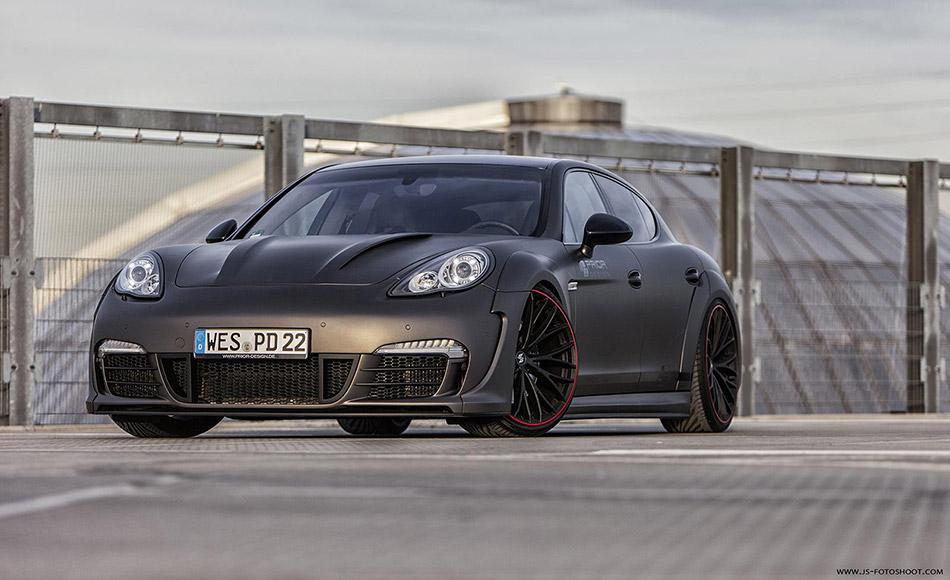 2014 Prior Design Porsche Panamera Wide Body Kit Front Angle