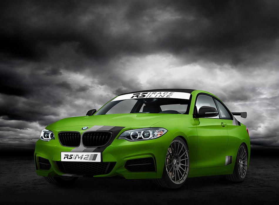 2014 RS-RACINGTEAM BMW M235i Green Hell Edition Front Angle