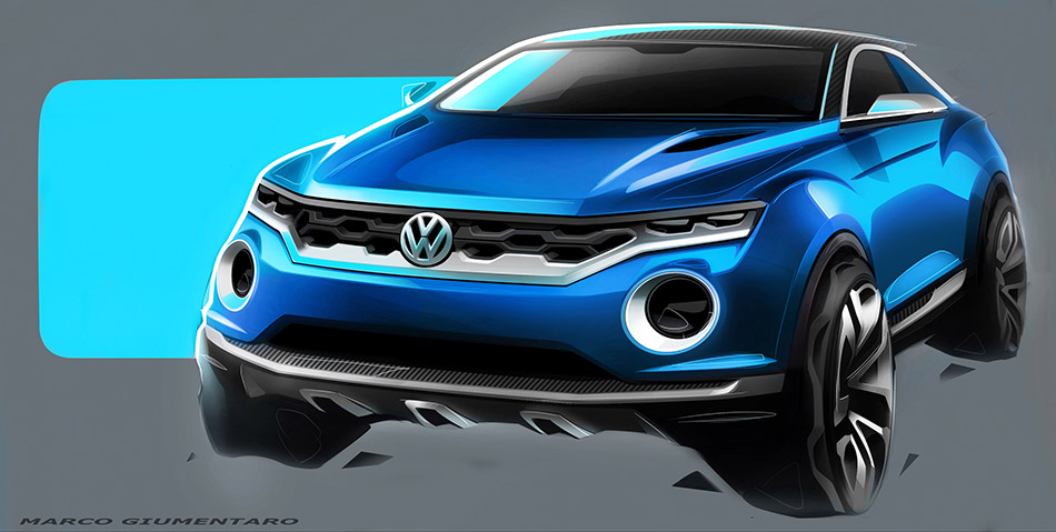 2015 Volkswagen T-ROC Concept Front Angle