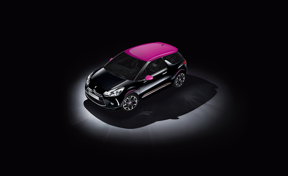 2014 Citroen DS3 Dark Rose Limited Edition Front Angle