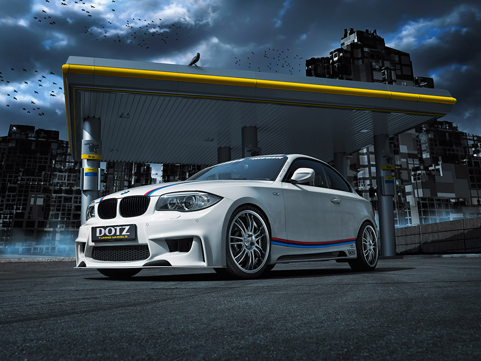2014 Dotz Shift BMW 135i Coupe Front Angle